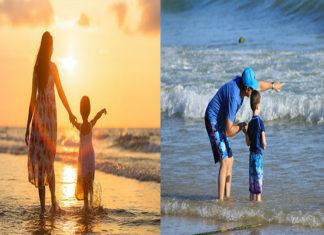 Figli di genitori separati in vacanza